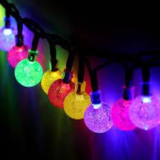 7m /30 LED angeschaltene die Luftblasen-Form-feenhafte Zeichenkette-Solarlichter für Hochzeits-WeihnachtsWeihnachtsfest-im Freiengarten-Dekoration imprägniern