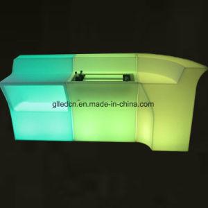 現代屋外のLumiluxアクリルLEDの家具棒カウンター