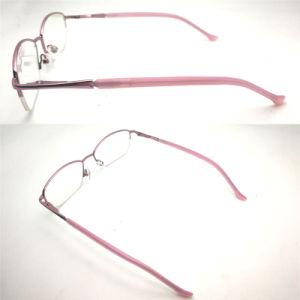 Het hete Verkopende Halve Optische Frame van het Metaal van de Bril van de Oogglazen van het Frame met de Scharnier van de Lente voor Vrouwen