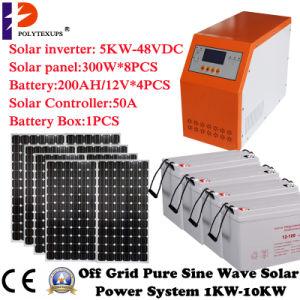 Soalr 시스템 5kw/5000W/7kVA의 가정 사용 재생 가능 에너지