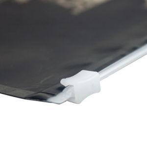 지퍼를 가진 알루미늄 안 광택이 없는 까만 플라스틱 의복 포장 부대