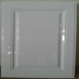 Hohe glatte weiße Lack-Küche-Schranktür
