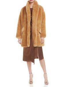 Style de luxe femmes manteaux Faux-Fur de longueur moyenne