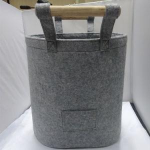 La conception du cylindre manche en bois écologique estimé+Shopping Un sac à main
