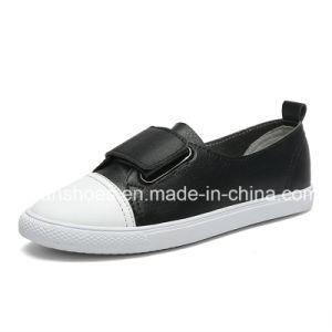 Slip-on de cuero zapatos casual zapatos planos para la Mujer (FYS814-6)