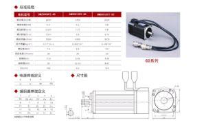 Servomotor eléctrico AC/máquina de plástico para la aplicación de inicio