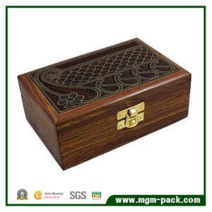 Diseño especial de papel café caja de embalaje de chocolate con 2 capas