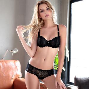 Europa Juego de ropa interior sexy sujetador de encaje y ultracompacto Panty