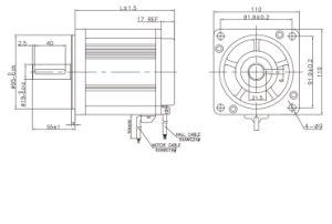 motor sin cepillo de la C.C. de 110m m con 3000rpm 2.06 nanómetro (ME110AS100-3)