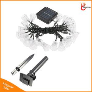 Colorida Solar recargable Alimentación del panel de luces LED Jingle Bells exterior de la luz de la cadena