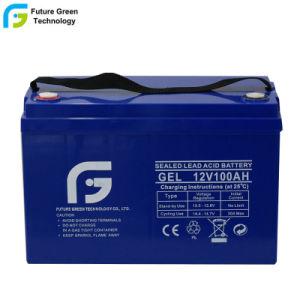 На заводе 12V 100Ah долгий срок службы гель AGM аккумулятор резервного питания от батарей