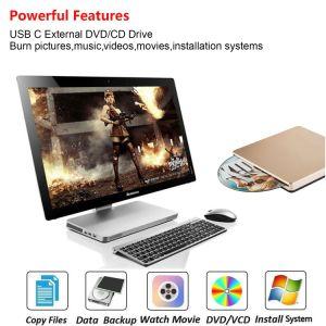 USB C DVD 직업 MacBook를 위한 CD 가열기 드라이브