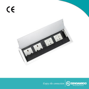De Vloed van de Lijst van het bureau zet de Afzet van de Contactdoos van de Desktop met VGA, HDMI, CAT6, USB op