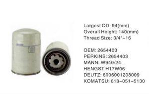 Calidad original Filtro de aceite de motores Perkins de CV2473 LF3356