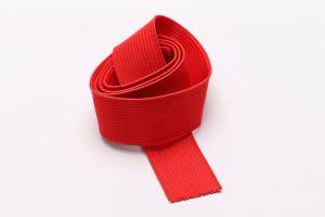 袋および衣服のアクセサリのための赤い編まれた伸縮性があるウェビングストラップ