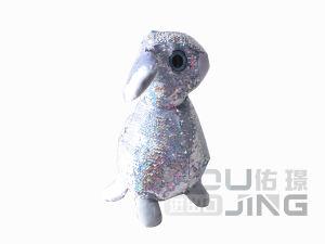 장난감 곰 재미있은 토끼 박제 동물 Sequin 견면 벨벳 장난감