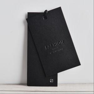 El espesor de suave de nuevo diseño de etiquetas para colgar la ropa