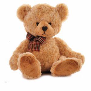 Giocattolo di seduta dell'orso dell'orsacchiotto di Borown della peluche molle del regalo del biglietto di S. Valentino