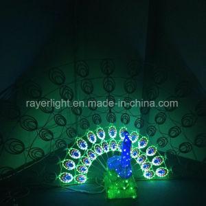 Het opvlammen Openlucht 3D van de Decoratie van LEIDENE Kerstmis van de Pauw Lichte