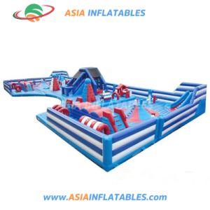 Le parc à thème rouge géant gonflable pour jeux de sport