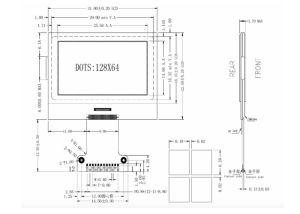 LEDのバックライトのRoHSの白い証明の128X64 SpiインターフェイスコグLCDのモジュール