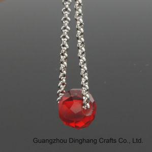 方法宝石類のスライドの赤いクリスタルグラスのビードは低下イヤリングをぶら下げる