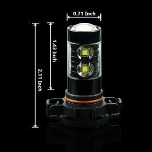 Alquiler de lámpara de repuesto de alta potencia 50W H16 5202 5201 PS19W LED Bombillas de luz de niebla para DRL o luces de niebla