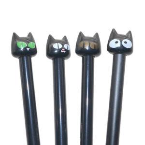 플라스틱 검은 고양이 젤 펜