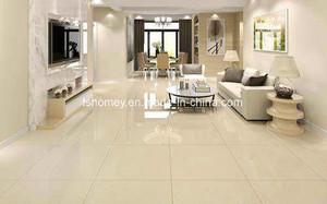Sh6686quente da venda Amarelo polido Nano piso de azulejos de parede de porcelana