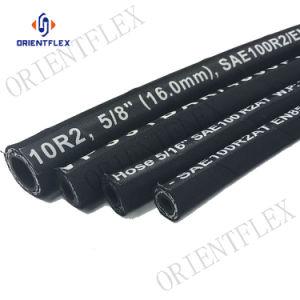 Malla de alambre de acero de caucho de alta presión de la manguera hidráulica R1 R2 1SN 2SN