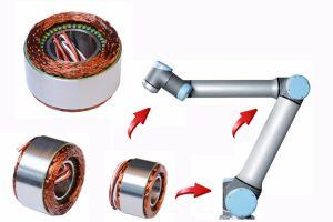 Sin cerco DC Motor para el brazo del robot industrial