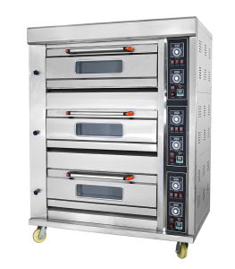 3 dek 6 de Apparatuur van de Bakkerij van de Oven van het Dek van het Gas van Dienbladen