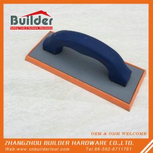 Oranje RubberVlotter met Plastic Handvat