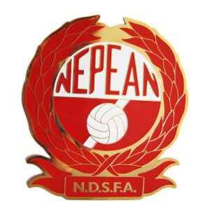 赤いエナメル(085)が付いているMOQの金の終了する習慣の第2 Nepeanのロゴのスポーツメダル無し