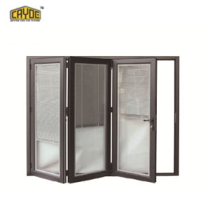 Aluminium-bequemes Bi-faltender Bildschirm/Glastüren mit thermischem Bruch-Entwurf