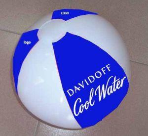 Bola de praia insuflável com logotipo da impressão de seda