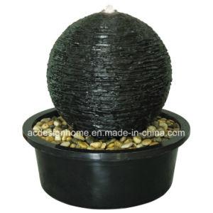 De moderne Buitensporige Elegante Fontein van de Bal van het Water van de Hars van Polystone van het Decor van de Tuin met LEIDEN Licht