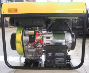 6 Kw/6 kVA/6000 Watt 12HP Open Type Diesel 4 temps générateur portatif