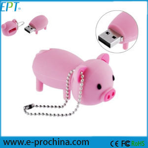 El caucho en forma de cerdo cerdito Memory Stick USB Flash Drive (EG04-B).