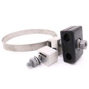 Personalizado Abrazadera de Suspensión con Cinta de Acero Inoxidable para ADSS Cable 100m Span