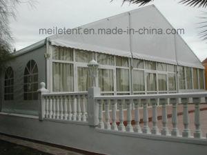 Tenda bianca 10m*30m della tenda foranea di cerimonia nuziale della parete di vetro della parte superiore del tetto di Snowproof