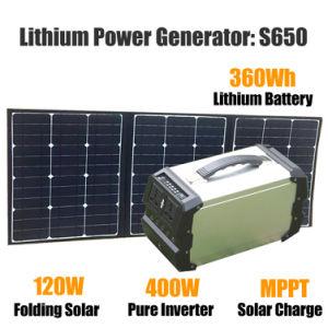 Gerador de Energia Solar Portátil Powerstation Solar Carregador Solar 400W