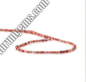 Naturel couleur Red Jasper & Multi Agate Microfaceted perles de pierres précieuses Perles ronde 4mm de 6mm 8mm 10mm 12mm