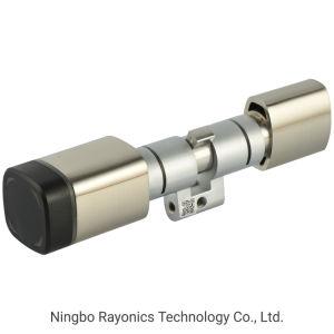 Formas Multi-Unlocking Swiss Perfil de un solo cilindro de cerradura de puerta inteligente con cilindro ajustable para el hotel y de oficina