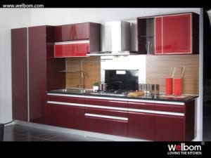2016 Modulaire Hoge Glanzende Houten Keukenkast Welbom