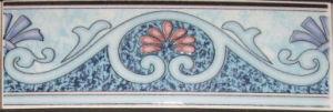 De ceramische Verglaasde Tegel van de Badkamers van de Grens
