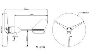 300W de Molen van de 12V/24VWind/de Prijs van de Turbogenerator van de Wind voor Huis
