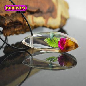 De Halsband van Jewellry van het hout en van de Hars met Echte Zilveren Ketting 925