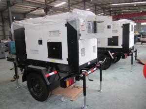65kw Shangchai gerador diesel móvel com reboque 80kVA gerador eléctrico