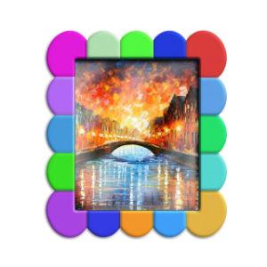 ホールダーが付いているおかしく柔らかいPVCによってカスタマイズされる3D映像の写真フレーム